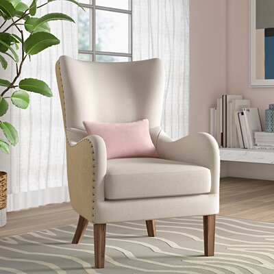 Wingback Chair Beige