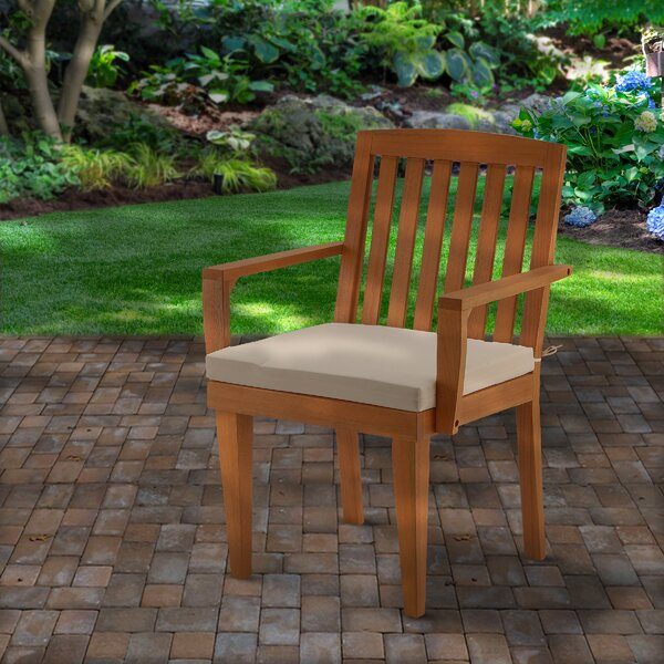 Dilan Patio Dining Chair with Cushion by Union Rustic