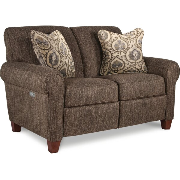Bennett Duo Reclining 60 Inches Rolled Arms Loveseat By La-Z-Boy