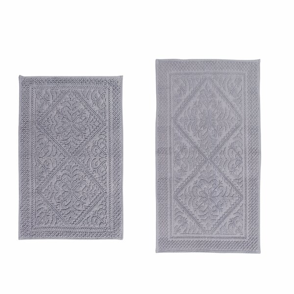 Boudreau Jacquard 2 Piece Bath Rug Set by Lark Manor