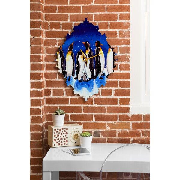 Renie Britenbucher Penguin Party Wall Clock by Deny Designs