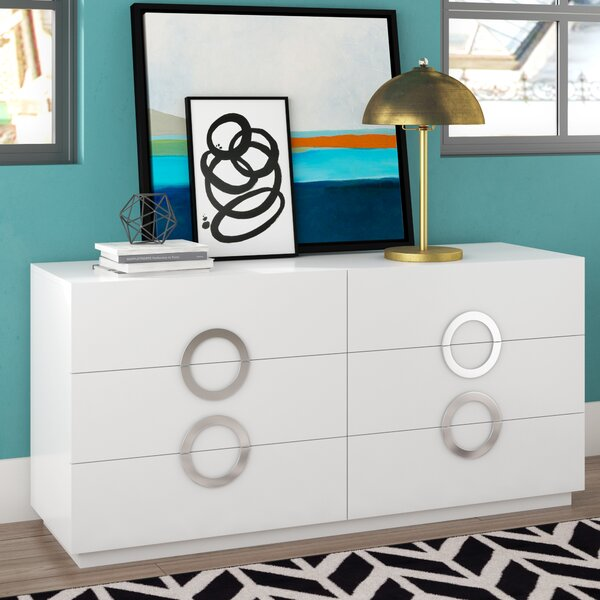 Austin 6 Drawer Double Dresser by Wade Logan