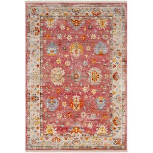 Mali Vintage Persian Traditional Bright Red Area Rug