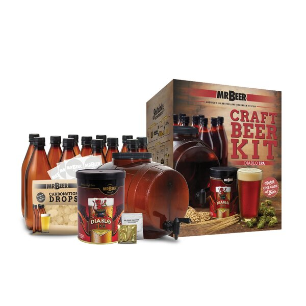 Mr. Beer Diablo IPA Complete Craft Beer Making Kit by Mr. Beer