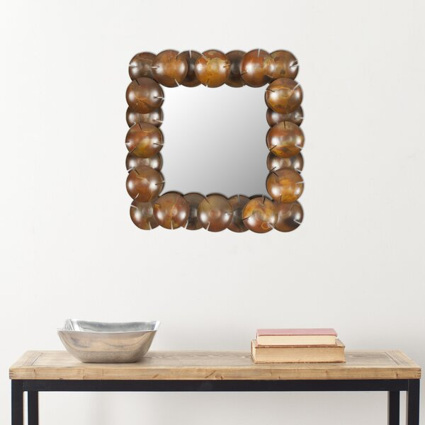 Vannie Clear Copper Round Cup Mirror by Bloomsbury Market