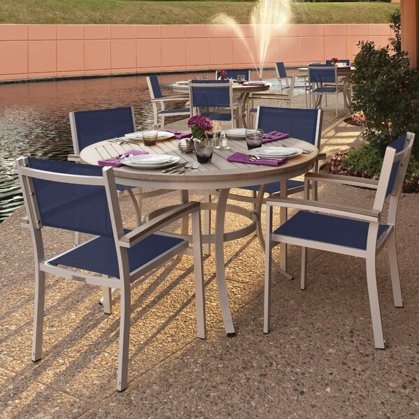 Farmington 5 Piece Powder Coated Aluminum Frame Dining Set by Latitude Run