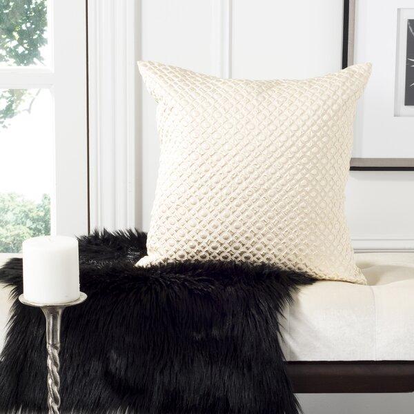 Delancy Stassie Metallic Textured Throw Pillow by House of Hampton