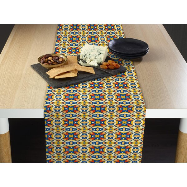 Wimberly Aztec X and Os Table Runner by Bloomsbury Market