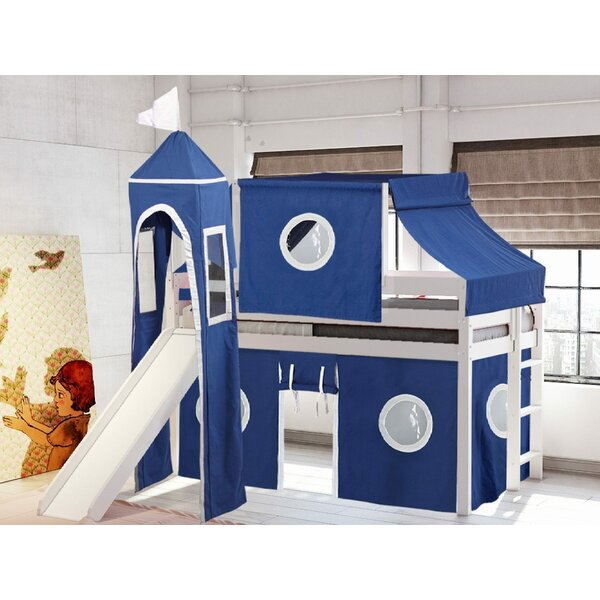 Aisling Castle Twin Low Loft Bed with Slide by Zoomie Kids