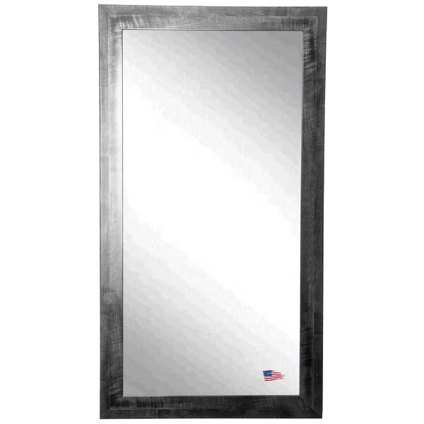 Sidra Rectangle Black Wall Mirror by 17 Stories