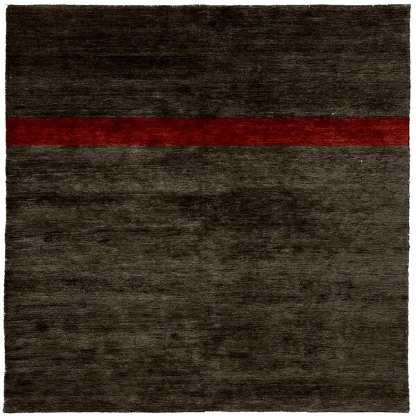 One-of-a-Kind Mulhern Hand-Knotted Brown 8' Square Wool Area Rug
