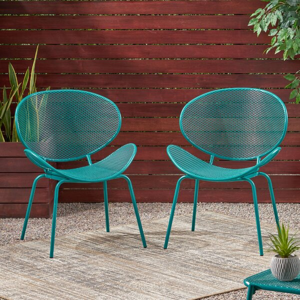 Vaughn Patio Dining Chair (Set Of 2) By Ebern Designs by Ebern Designs Read Reviews