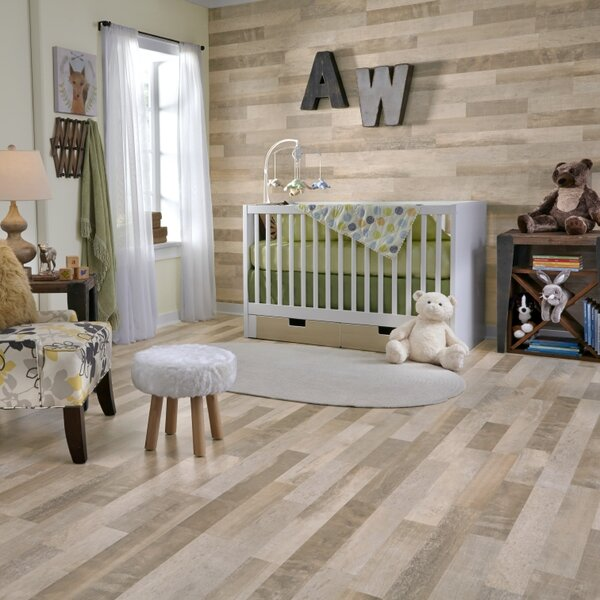Restoration Wide Plank 8'' x 51'' x 12mm Laminate Flooring in Wheat by Mannington