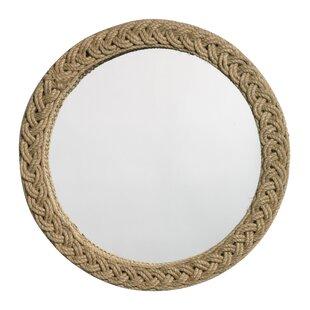 Highland Dunes Grace Round Braided Mirror