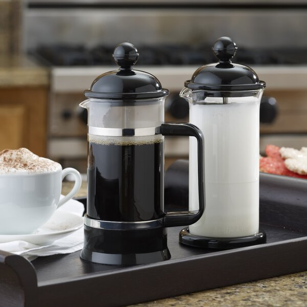 La Petite 2 Piece French Press and Milk Frother Set by BonJour