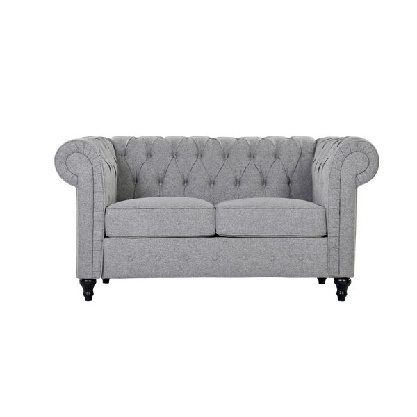 Best Price Whitmarsh Chesterfield Loveseat by Charlton Home