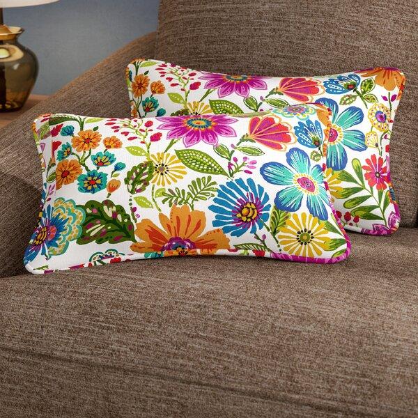 Paxton Floral Indoor/Outdoor Rectangular Lumbar Pillow (Set of 2) by Andover Mills