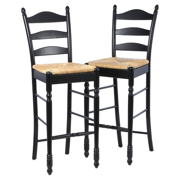 Erma 30 Ladder Back Bar Stool (Set of 2) by August