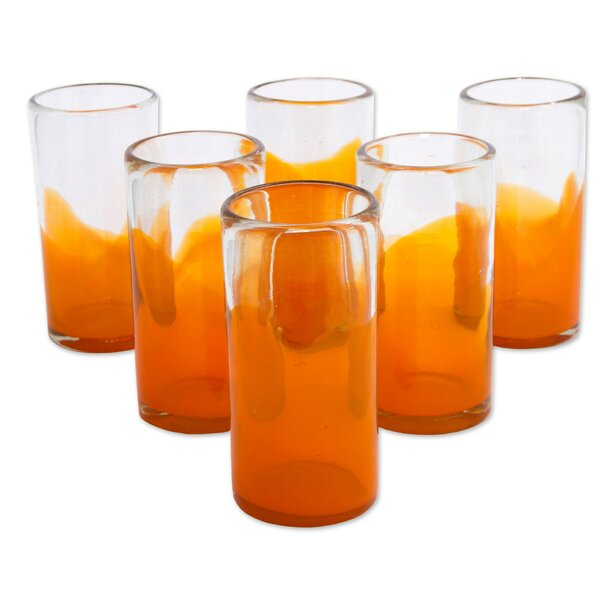 Ange Waves 13 oz. Juice Glass (Set of 6) by Novica