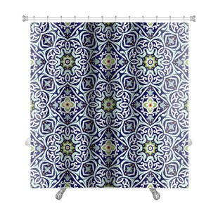 Compare prices Delta Oriental Traditional Floral Ornament, Moroccan Premium Shower Curtain By Gear New