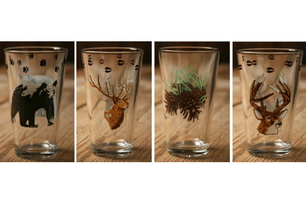 20 Oz. Wilderness Mixing Glass (Set of 4) by West Creation