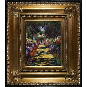 Garden Path' by Monet Framed Painting on Canvas by Tori Home