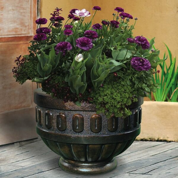 Round Chalice Premium Cast Stone Pot Planter by Henri Studio