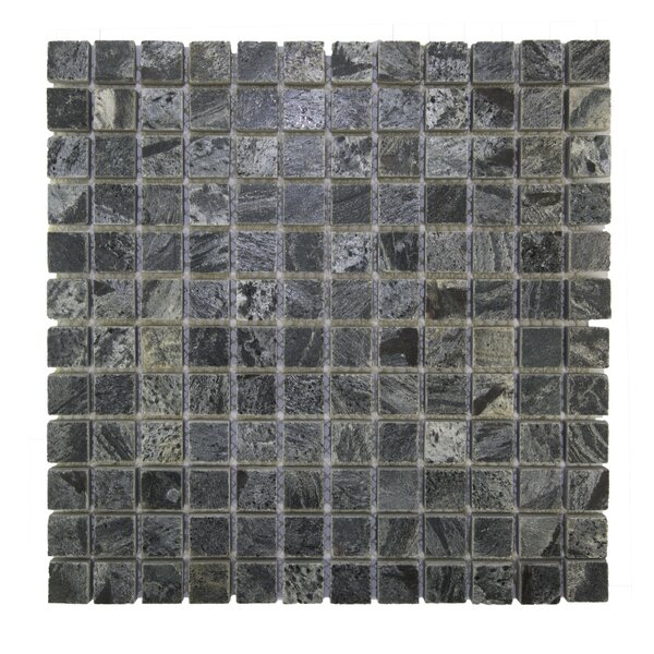 Squares 1 x 1 Natural Indonesian Stone Mosaic Tile in Silver by Pebble Tile