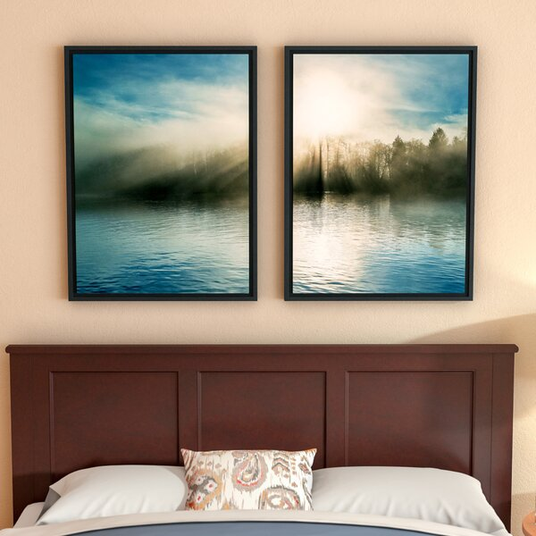 The Wave, Long Beach 2 Piece Framed Photographic Print Set by Red Barrel Studio