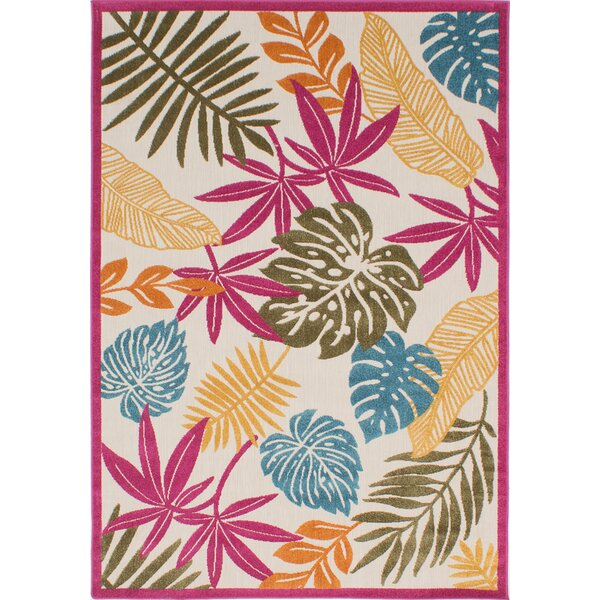 Shultz Beige/Pink Indoor/Outdoor Area Rug by Bay Isle Home