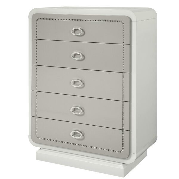 Tores Wooden 5 Drawer Chest by Rosdorf Park