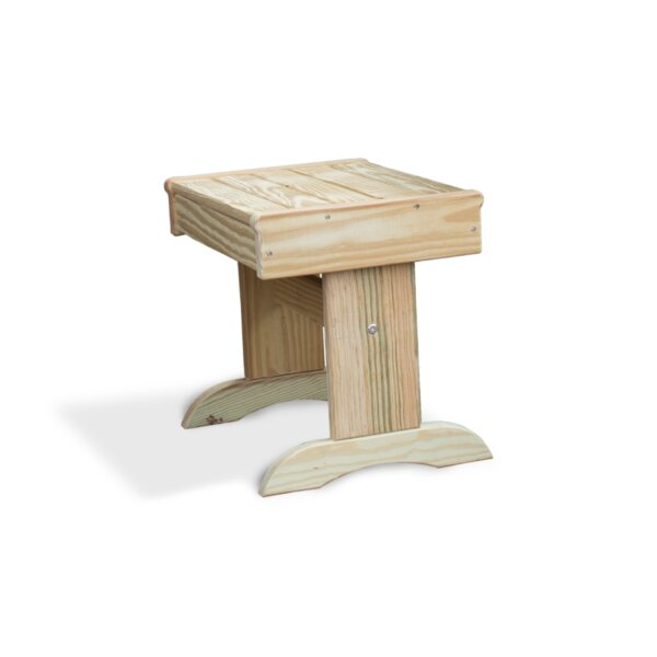 Wooden Side Table by YardCraft