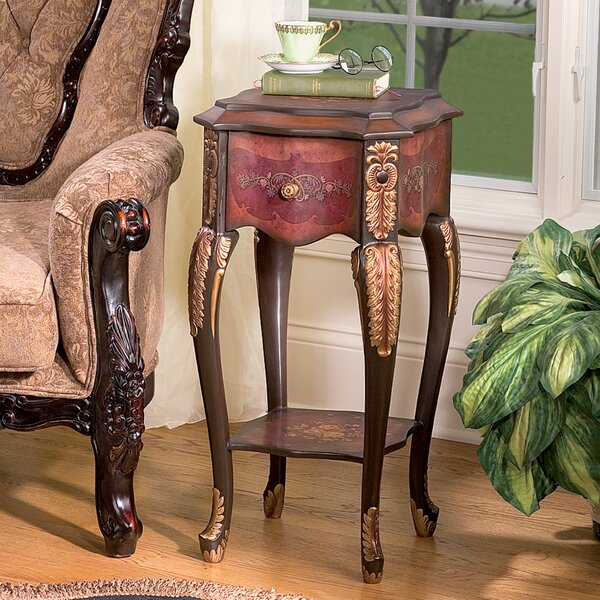 Floral Bouquet Chiffoniere End Table by Design Toscano