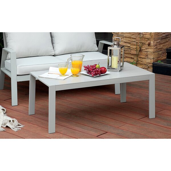 Belleville Aluminum Coffee Table by Rosecliff Heights