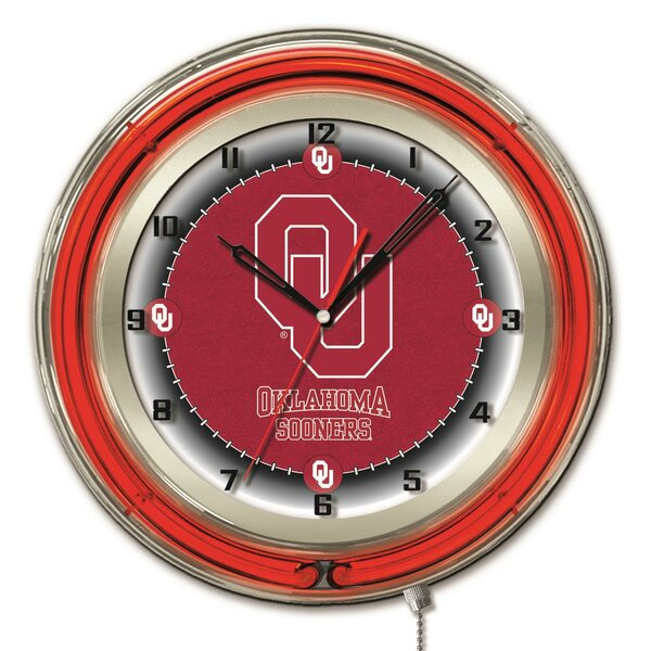 NCAA 19 Neon Clock by Holland Bar Stool