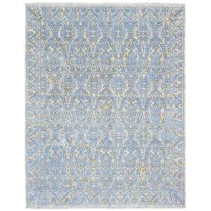 Anja Hand Woven Wool Blue/Beige Area Rug