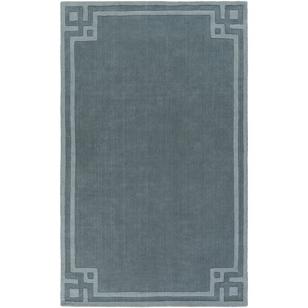 Peever Hand-Loomed Teal Area Rug by Charlton Home