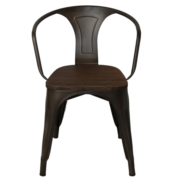 Ethelyn Metal Arm Chair (Set of 4) by Williston Forge Williston Forge