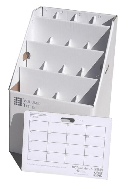 16 Slot Rolled Document Rolled Filing Box by Advanced Organizing Systems
