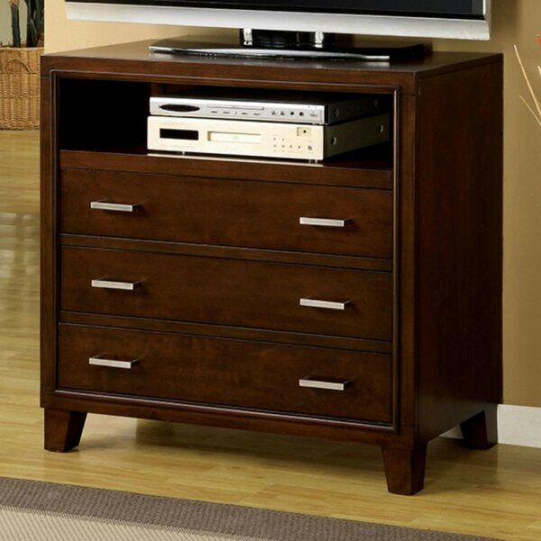 Baseeth Contemporary Media 3 Drawer Bachelors Chest by Red Barrel Studio