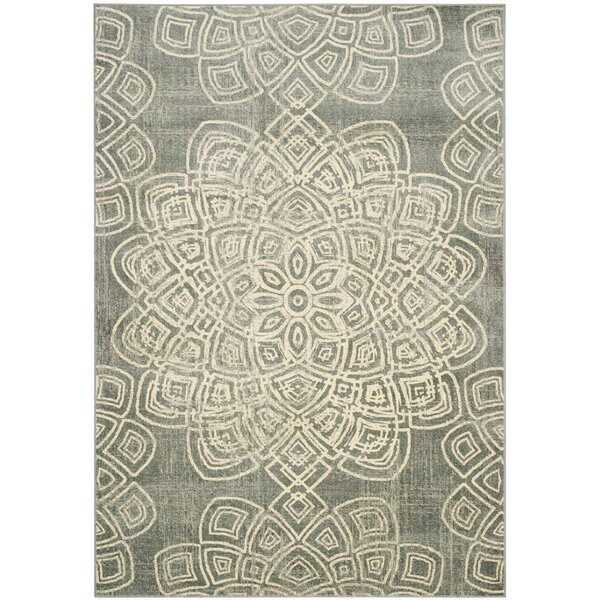 Avalon Light Gray Area Rug by Bungalow Rose