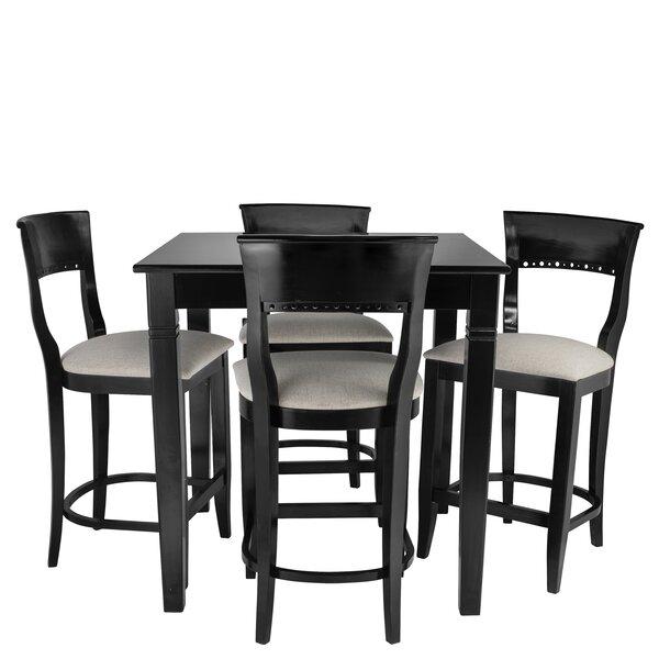 Weishaar 5 Piece Pub Table Set by Red Barrel Studio