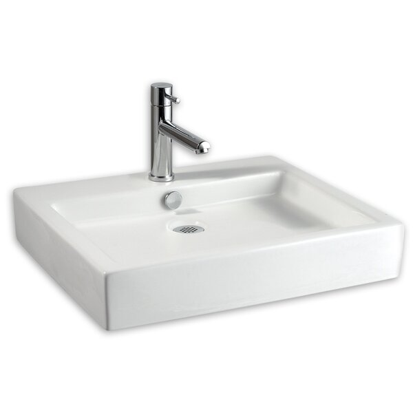 Studio Ceramic Rectangular Vessel Bathroom Sink with Overflow by American Standard