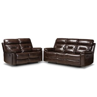 Guisel 2 Piece Faux Leather Reclining Living Room Set by Red Barrel Studio®