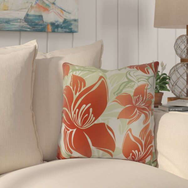 Costigan Tree Mallow Floral Print Outdoor Throw Pillow by Bay Isle Home