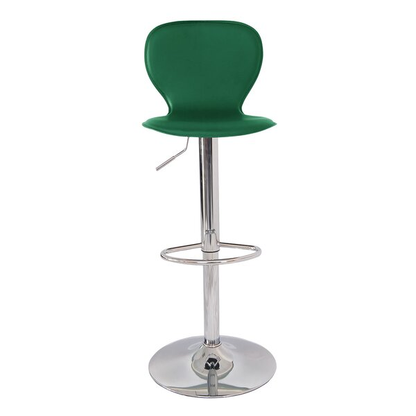 Ally Mid Century Modern Adjustable Height Swivel Bar Stool by Orren Ellis