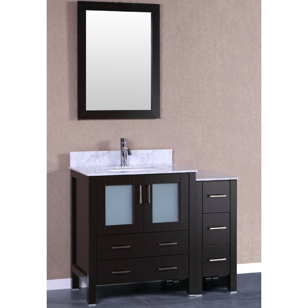Verona 42 Single Bathroom Vanity Set with Mirror by Bosconi