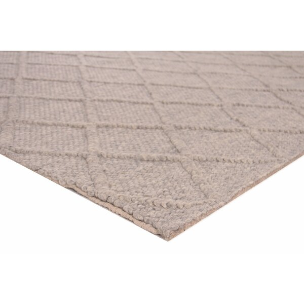 Brentwood Hand-Woven Wool Beige Area Rug by Exquisite Rugs