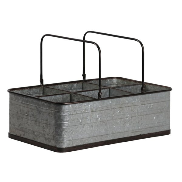 Driver Rectangular Galvanized Metal Accent Tray by Williston Forge