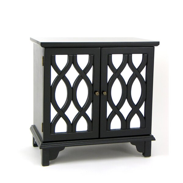 Elowen Mirror 2 Door Accent Cabinet by House of Hampton House of Hampton
